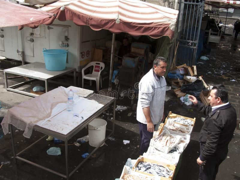 View of the fish market stock photography
