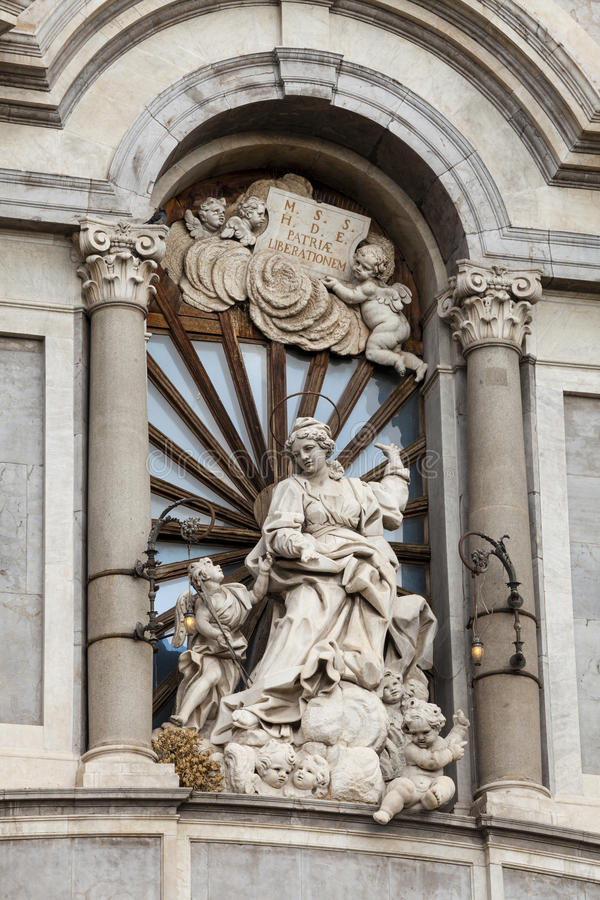 Catania-Kathedrale, Details Sizilien, Italien stockfotografie
