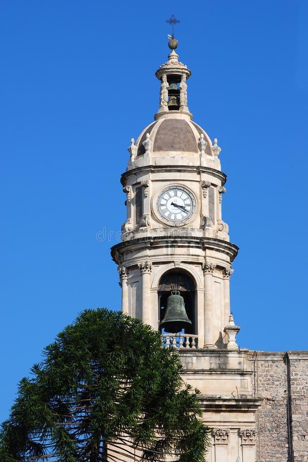 Catania-Kathedrale-Kontrollturm/Sizilien stockfotos