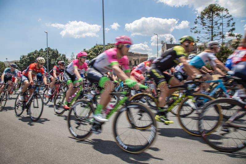 Catania, o 8 de maio de 2018 - ` Italia 2018 do Giro d fotos de stock royalty free