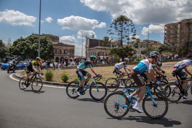 Catania, o 8 de maio de 2018 - ` Italia 2018 do Giro d imagens de stock