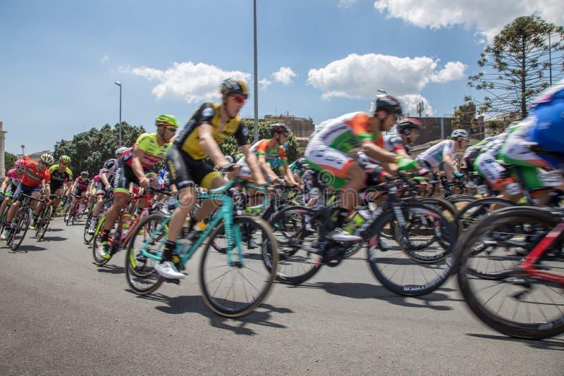 Catania, o 8 de maio de 2018 - ` Italia 2018 do Giro d foto de stock