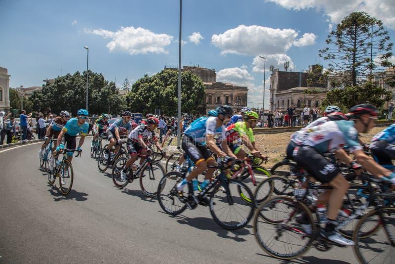 Catania, o 8 de maio de 2018 - ` Italia 2018 do Giro d fotos de stock