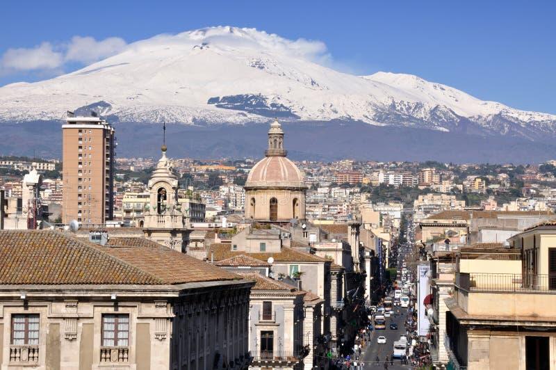 Catania. paisagem imagem de stock royalty free