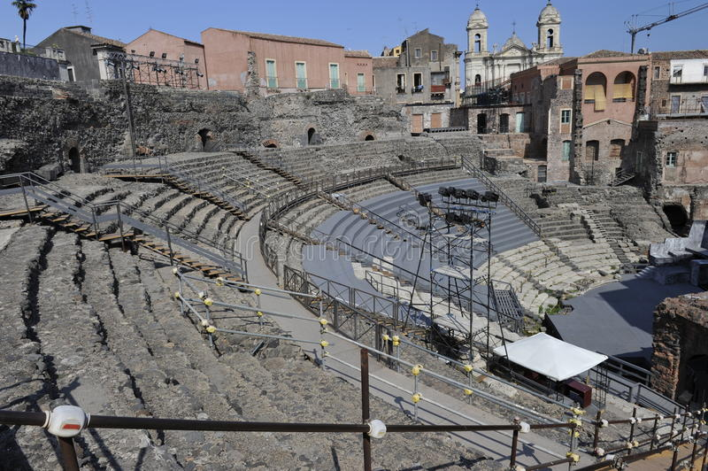 Download Catania, Roman Amphitheater Stock Image - Image: 20900525