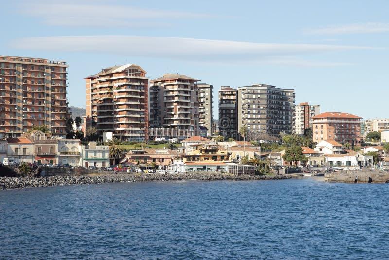 catania seafront royaltyfri fotografi