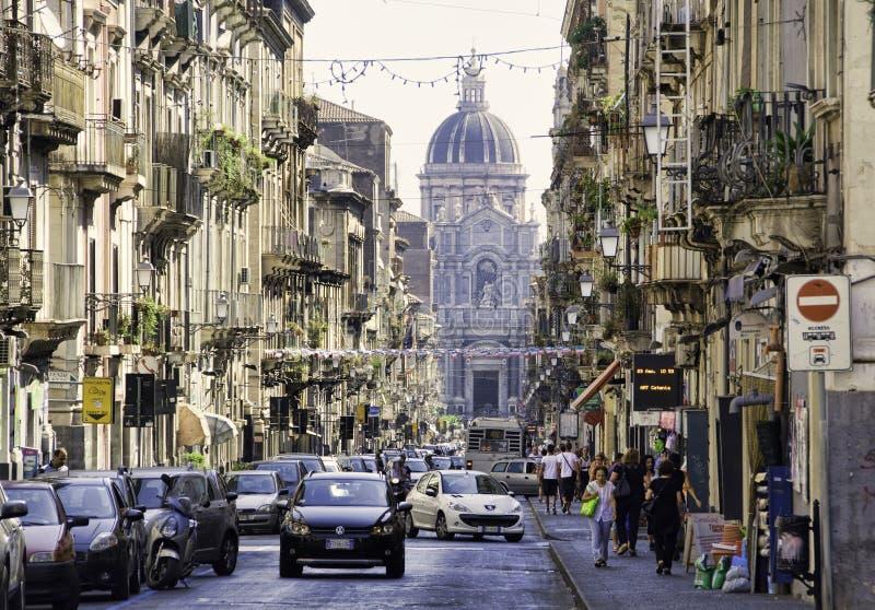 Catania Sicilien arkivbilder