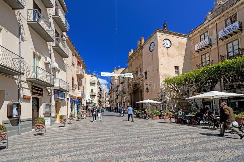 Catania Street royalty free stock photos