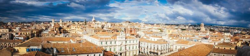 Catania, vista superior del centro de la ciudad histórico, Italia fotografía de archivo libre de regalías
