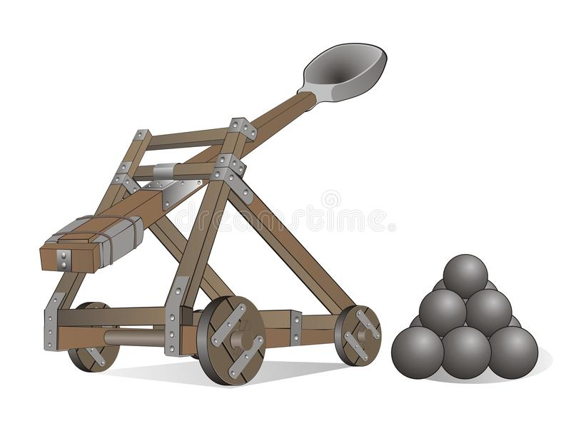 Catapult stock photography