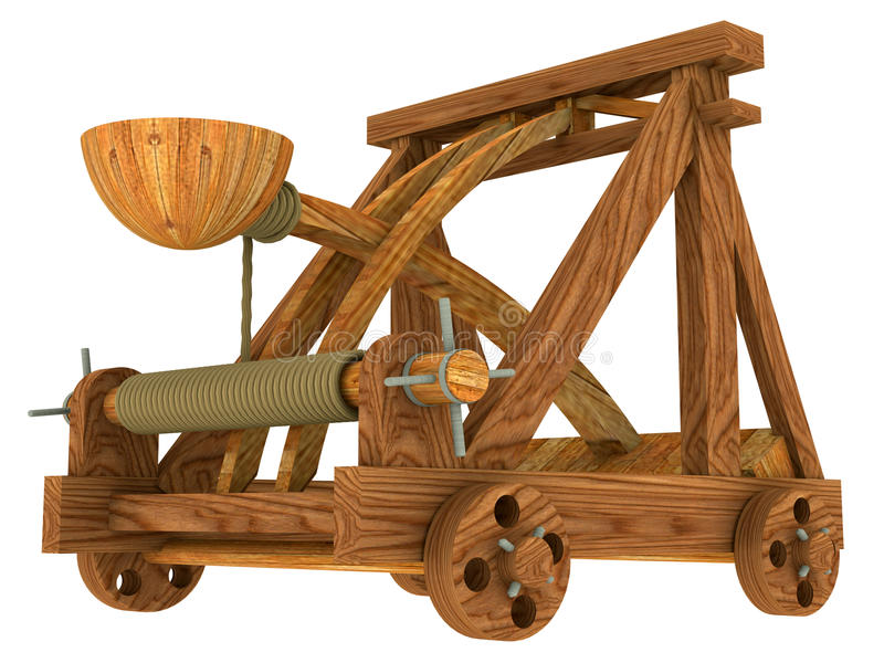 Download Catapult (Medieval) stock illustration. Image of texture - 10159945