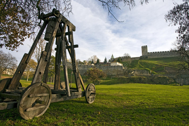 Download Catapult Under City Wall Royalty Free Stock Photo - Image: 12376075