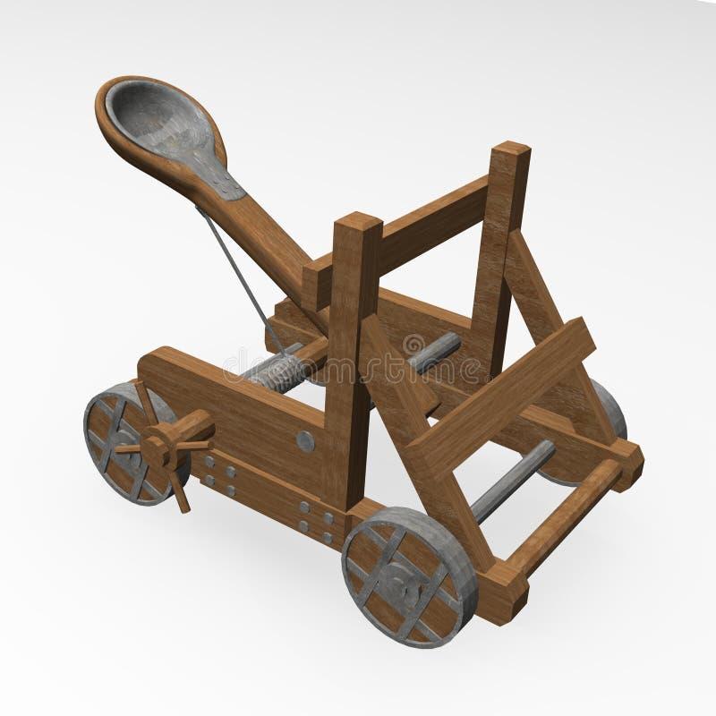 Catapulta stock de ilustración