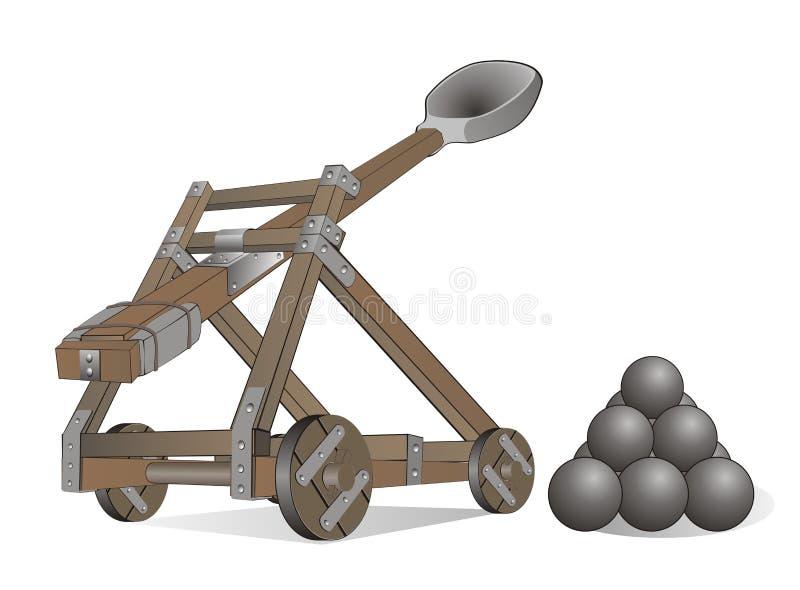 Catapulta ilustración del vector