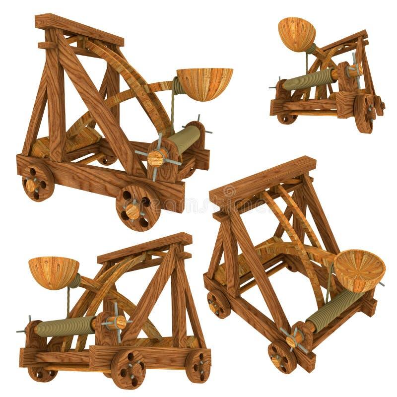 Catapulta (medieval) stock de ilustración