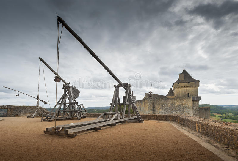 Catapultas O Trebuchets Foto de archivo libre de regalías