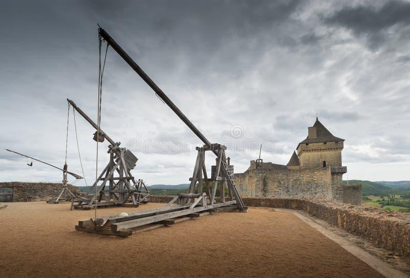 Catapults Or Trebuchets Royalty Free Stock Photo