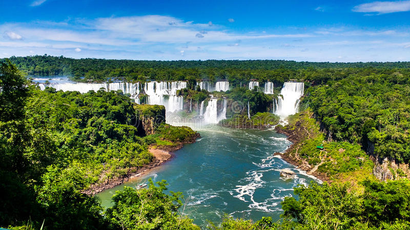 Cataratas DE Iguazu royalty-vrije stock afbeelding