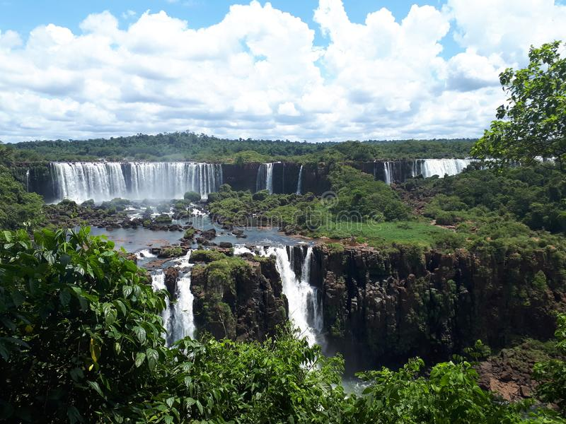 Cataratas tun Iguaçu, Brasilien lizenzfreie stockbilder