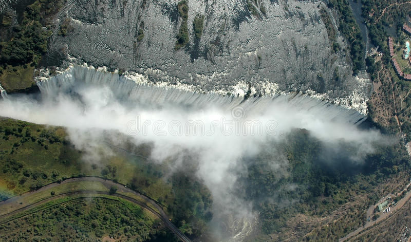 Cataratas Vitória - vista aérea imagens de stock royalty free