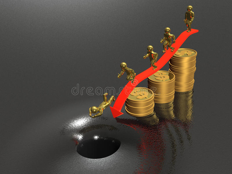 Download Catastrophe stock illustration. Image of fall, finance - 18666282