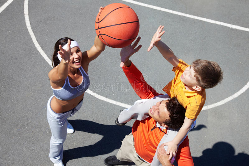 Catch the ball! stock image