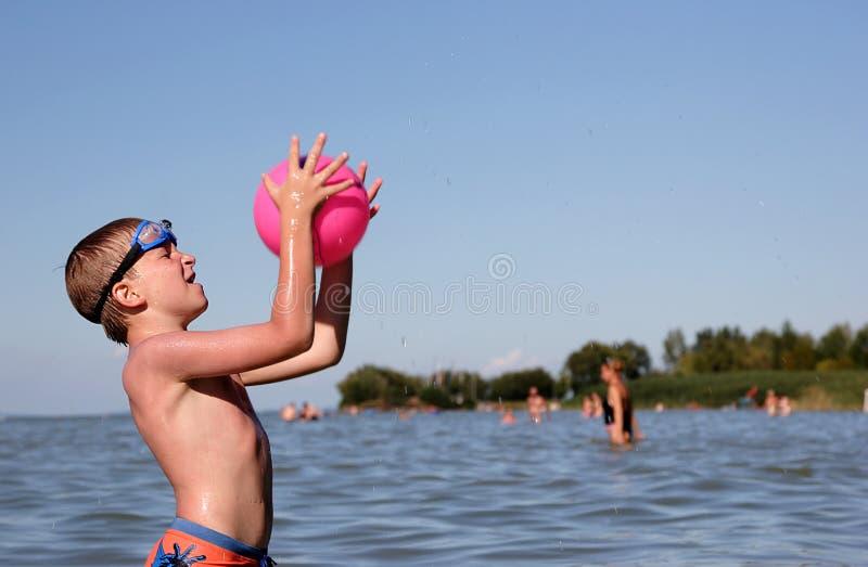 Catch the ball stock photos