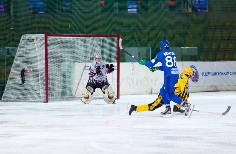 Catch a ball. Joel Oten goaltender stock images