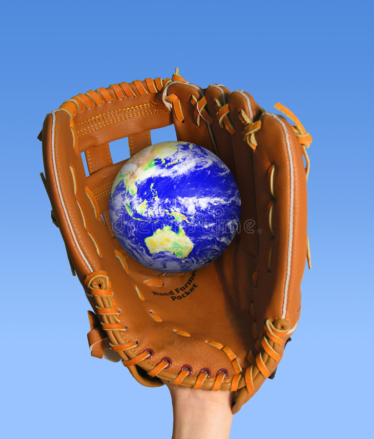 Catch the Globe stock image