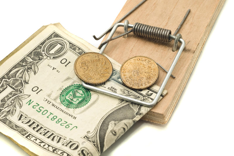 Download Catch It - Money In The Mousetrap Stock Photo - Image: 12429914