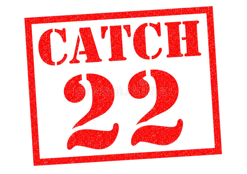 CATCH 22. Red Rubber Stamp over a white background royalty free illustration