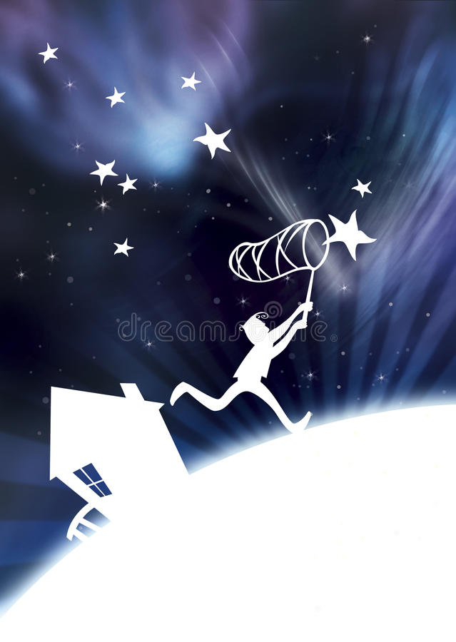 Download Catch the stars stock illustration. Image of lights, fishing - 10441914