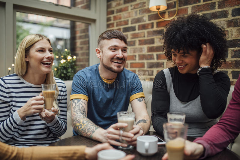 Catch Up Coffee royalty free stock photography
