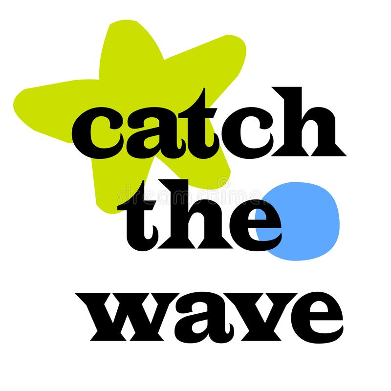 Catch The Wave royalty free illustration