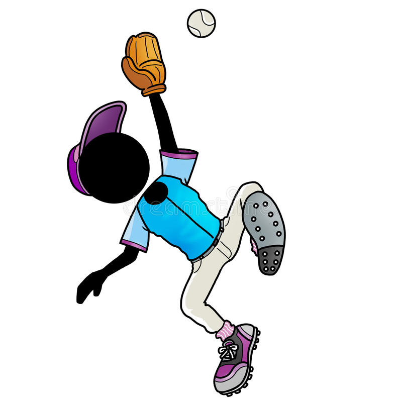 Catcher. Silhouette-man sport icon - baseball player catch a ball vector illustration