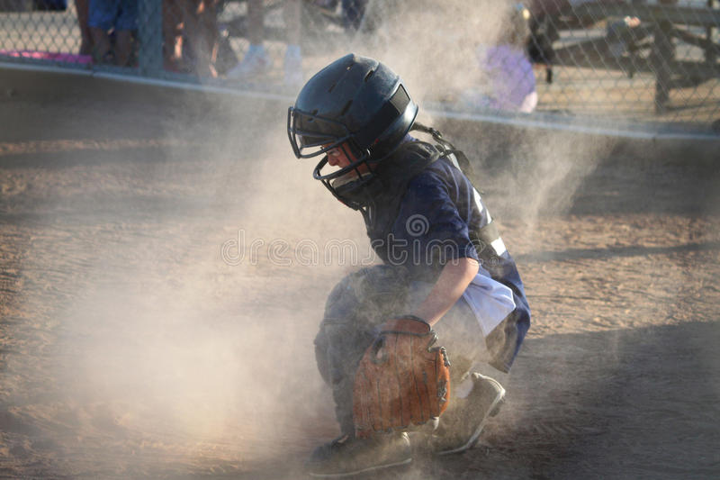 Download Catcher stock image. Image of glove, dust, sports, tball - 25797057