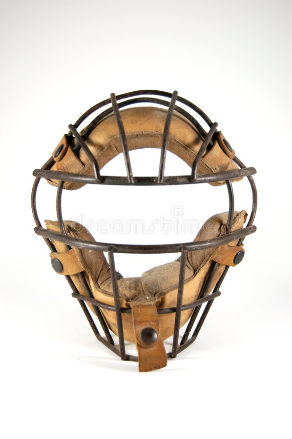 Catcher's Mask with History stock photography