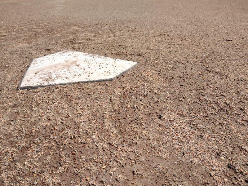 Baseball Home Plate stock photography