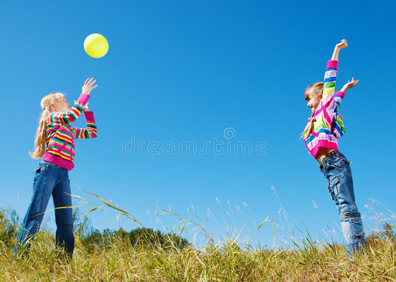 Catching the ball royalty free stock photography