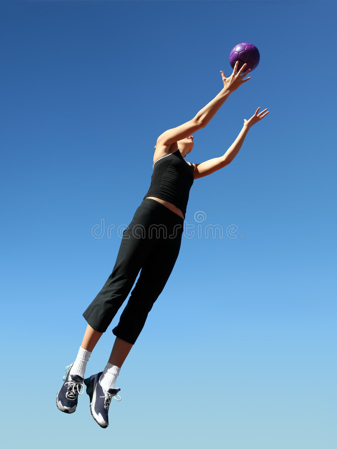 Download Catching the ball stock image. Image of outdoor, people - 3759097