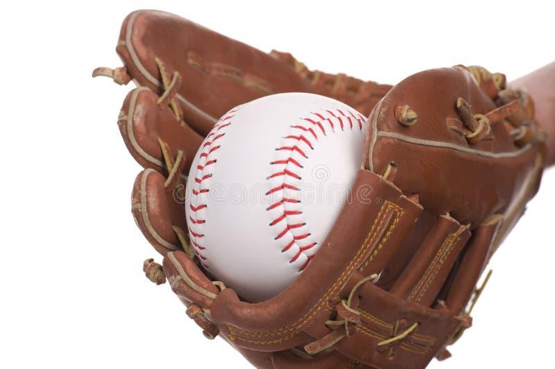 Catching baseball stock image