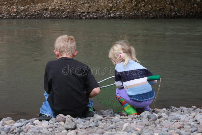 Catching fish royalty free stock photos