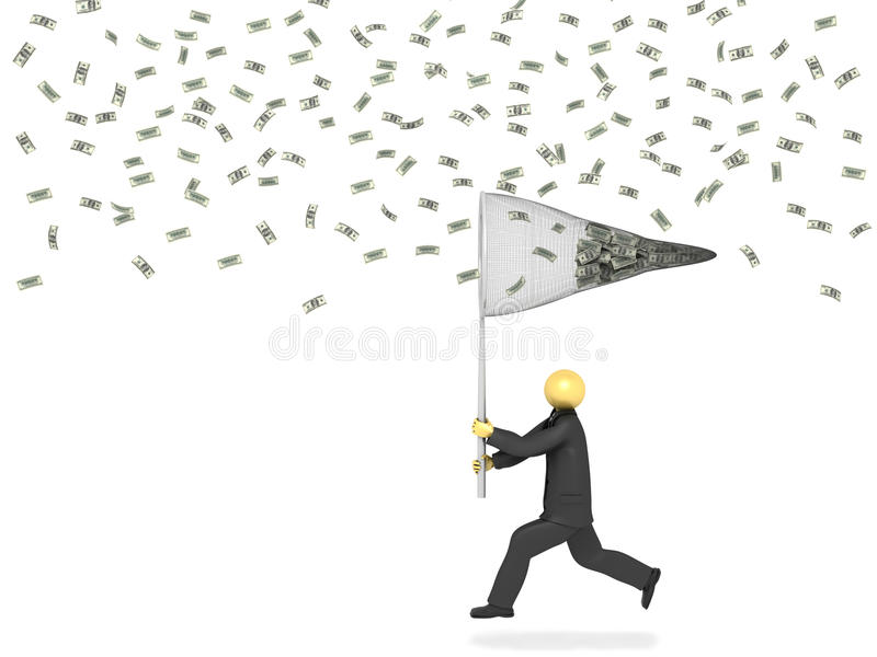 Catching Money stock illustration