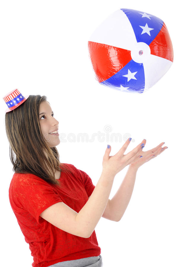 Catching the Red, White and Blue royalty free stock image