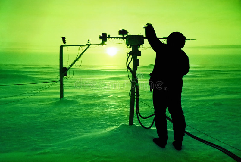 Catching the sun, North Pole stock photography