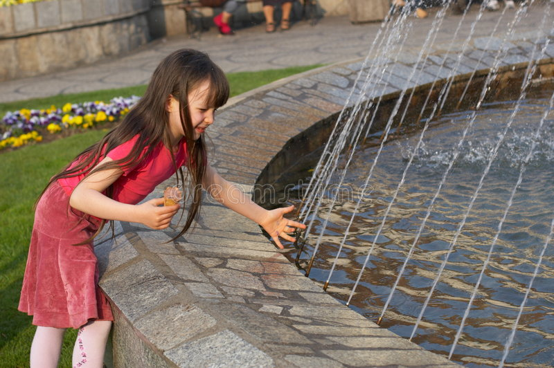 Catching Water royalty free stock image