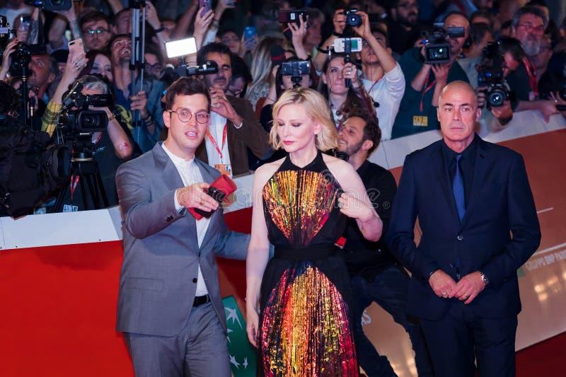 Cate Blanchett no tapete vermelho, no festival de cinema 2018 de Roma fotografia de stock