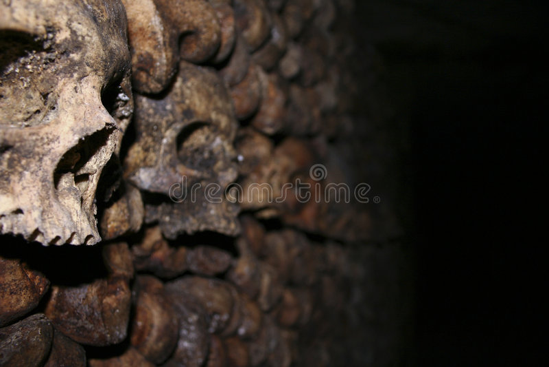 catecombs czaszki obraz stock