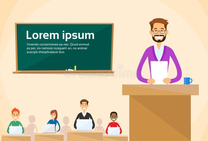 Catedrático Lecture Speech Teacher ilustração royalty free