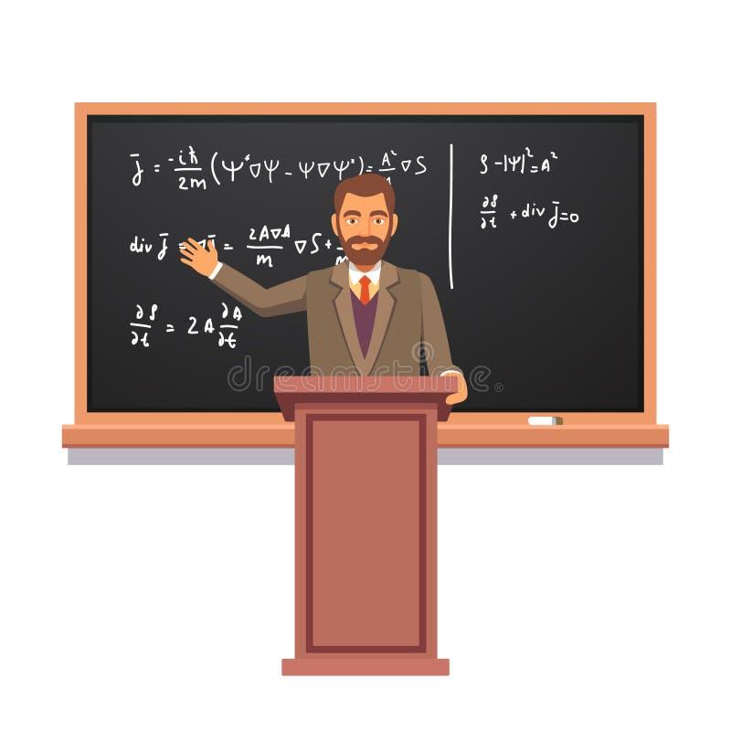 Catedrático que dá uma leitura ilustração do vetor